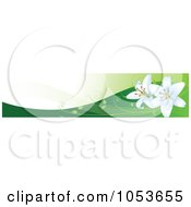Royalty Free Vector Clip Art Illustration Of Easter Lilies On Hills Website Banner