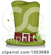 Royalty Free Vector Clip Art Illustration Of A Tall Leprechaun Hat With Clovers