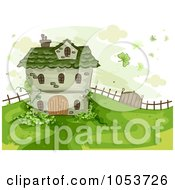 Royalty Free Vector Clip Art Illustration Of A St Patricks House On A Hill by BNP Design Studio