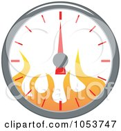 Royalty Free Vector Clip Art Illustration Of A Speedometer With Flames