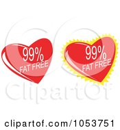 Royalty Free Vector Clip Art Illustration Of A Digital Collage Of Fat Free Hearts by patrimonio