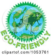 Frog Over A Globe Above Eco Friendly Text 1