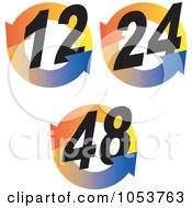 Royalty Free Vector Clip Art Illustration Of A Digital Collage Of Hour Symbols 1
