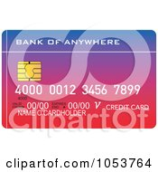 Royalty Free Vector Clip Art Illustration Of A Gradient Blue To Red Credit Card by patrimonio