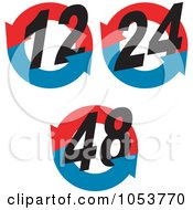 Royalty Free Vector Clip Art Illustration Of A Digital Collage Of Hour Symbols 2