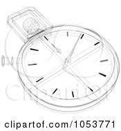 Royalty Free Vector Clip Art Illustration Of A Stopwatch Sketch 2