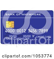 Royalty Free Vector Clip Art Illustration Of A Blue Credit Card by patrimonio
