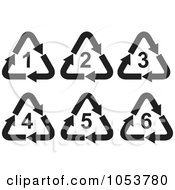 Royalty Free Vector Clip Art Illustration Of A Digital Collage Of Recycle Symbols by patrimonio