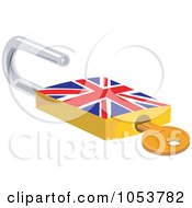 Royalty Free Vector Clip Art Illustration Of An Open British Padlock by patrimonio