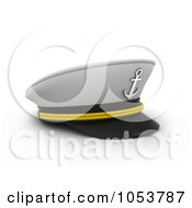 Royalty Free 3d Clip Art Illustration Of A 3d Captain Cap by BNP Design Studio