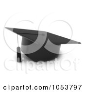 Royalty Free 3d Clip Art Illustration Of A 3d Graduation Cap
