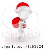 Royalty Free 3d Clip Art Illustration Of A 3d Ivory White Man Santa