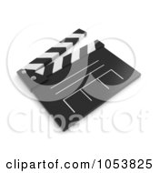 Royalty Free 3d Clip Art Illustration Of A 3d Clapper Board