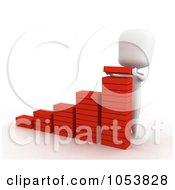 Royalty Free 3d Clip Art Illustration Of A 3d Ivory White Man Assembling A Bar Graph