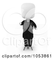 3d Ivory White Man Music Conductor
