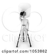 Royalty Free 3d Clip Art Illustration Of A 3d Ivory White Man Photographer