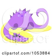 Royalty Free Vector Clip Art Illustration Of A Purple Dragon by bpearth