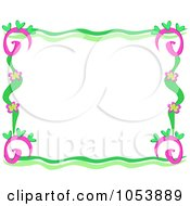 Tropical Flower Frame 3