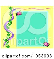 Tropical Snake And Vine Flower Frame