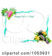 Toucan Happy Fathers Day Border
