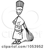 Royalty Free Vector Clip Art Illustration Of A Stick Man Chef With A Whisk