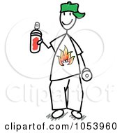 Royalty Free Vector Clip Art Illustration Of A Stick Graffiti Man by Frog974