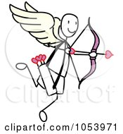 Royalty Free Vector Clip Art Illustration Of A Stick Cupid by Frog974