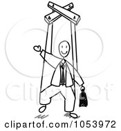Royalty Free Vector Clip Art Illustration Of A Stick Man Puppet by Frog974