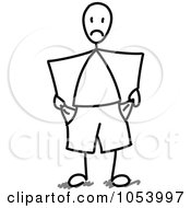 Royalty Free Vector Clip Art Illustration Of A Broke Stick Man by Frog974 #COLLC1053997-0066