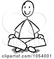 Royalty Free Vector Clip Art Illustration Of A Stick Man Sitting by Frog974 #COLLC1054001-0066