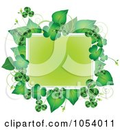 Royalty Free Vector Clip Art Illustration Of A Green St Patricks Day Frame Of Leaves And Shamrocks