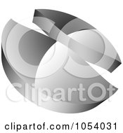 Royalty Free 3d Vector Clip Art Illustration Of A Silver Abstract Logo