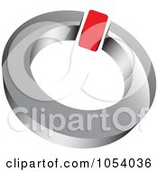 Royalty Free 3d Vector Clip Art Illustration Of A Red And Silver Ring Logo by vectorace #COLLC1054036-0166