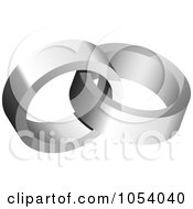 Royalty Free 3d Vector Clip Art Illustration Of A Silver Rings Logo