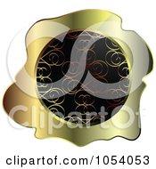 Gold And Black Ornate Vintage Wax Label