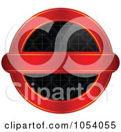 Royalty Free Vector Clip Art Illustration Of A Red Gold And Black Vintage Round Label by vectorace