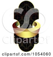 Royalty Free Vector Clip Art Illustration Of A Gold Label Ring Around An Ornate Design by vectorace