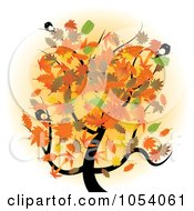 Royalty Free Vector Clip Art Illustration Of Birds In An Autumn Tree by vectorace