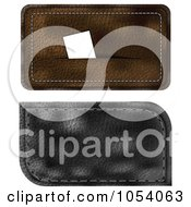 Royalty Free Vector Clip Art Illustration Of A Digital Collage Of Black And Brown Leather Business Card Holders by vectorace
