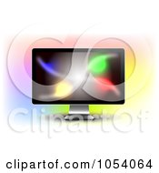 Royalty Free Vector Clip Art Illustration Of A Colorful Display On A 3d LCD Monitor