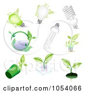 Royalty Free Vector Clip Art Illustration Of A Digital Collage Of Ecology Icons by vectorace #COLLC1054066-0166