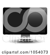 Royalty Free Vector Clip Art Illustration Of A 3d LCD Monitor by vectorace