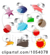 Royalty Free Vector Clip Art Illustration Of A Digital Collage Of 3d Colorful And Shiny Labels by vectorace
