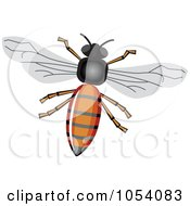 Royalty Free Vector Clip Art Illustration Of A Honey Bee by vectorace