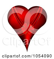 Royalty Free Vector Clip Art Illustration Of A Bow And Ribbon On A Red Heart