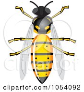 Royalty Free Vector Clip Art Illustration Of A Bee by vectorace