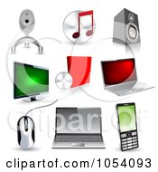Royalty Free Vector Clip Art Illustration Of A Digital Collage Of 3d Technology Icons