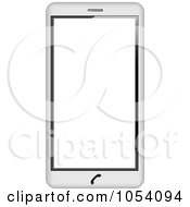 Royalty Free Vector Clip Art Illustration Of A 3d White Cell Phone by vectorace #COLLC1054094-0166