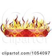 Royalty Free Vector Clip Art Illustration Of A Fiery Banner Label by vectorace