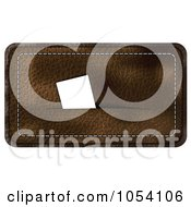 Royalty Free Vector Clip Art Illustration Of A Brown Leather Business Card Holder by vectorace